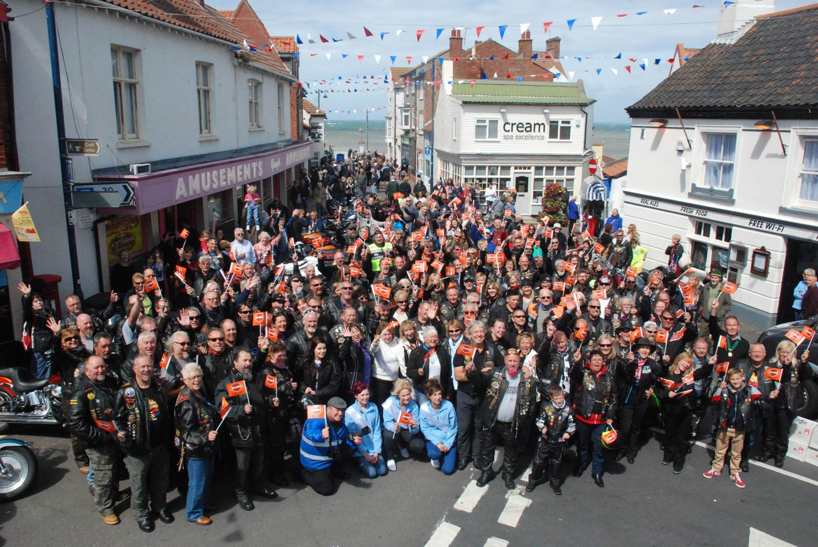 Rally attendees at Sheringham